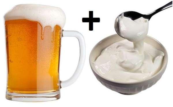 Коктейль с темным пивом и сметаной для мужской силы