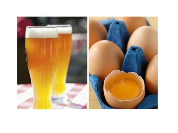 Коктейль из пива с яйцом для повышения потенции