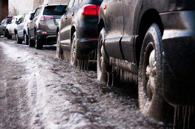 машины во льду